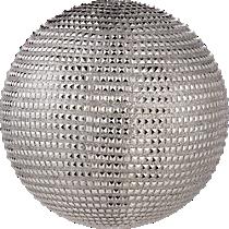 small silver stud ball