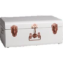 small matte white suitcase