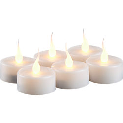 LED tea light candles set of six