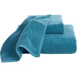 smith blue-green bath towels