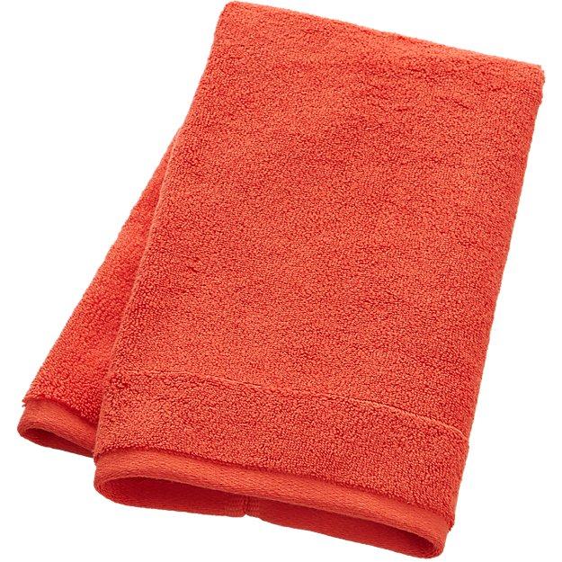 smith orange hand towel