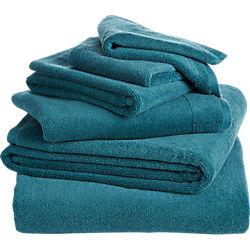 6-piece smith blue-green bath towel set