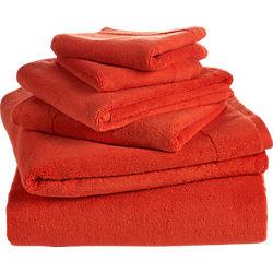 6-piece smith orange bath towel set