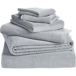 6-piece smith silver grey bath towel set