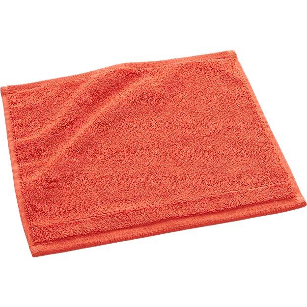 smith orange washcloth