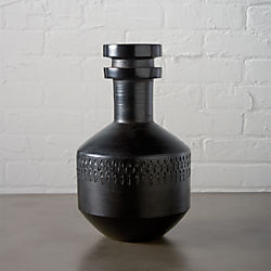 smoke stack black vase