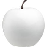 white large snow apple