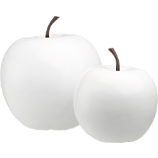 white snow apples