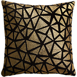 "soiree black 16"" pillow"