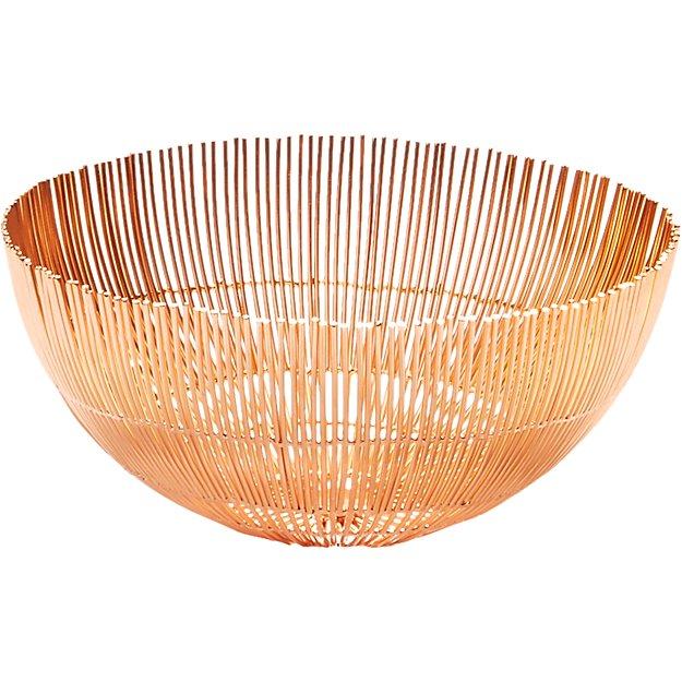 soleil small copper wire bowl