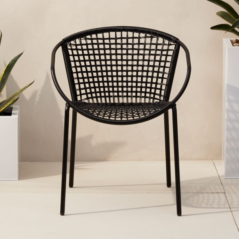 Sophia Black Dining Chair Cb2