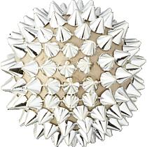 spike ball gold ornament