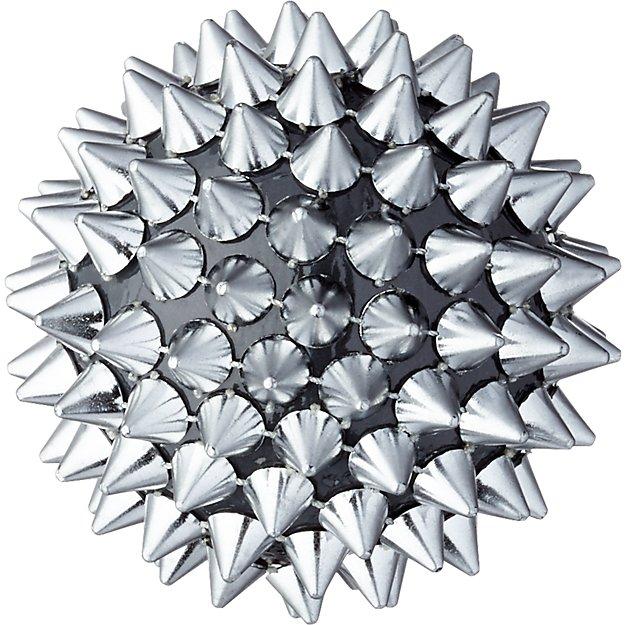 spike ball gunmetal ornament