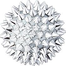 spike ball silver ornament