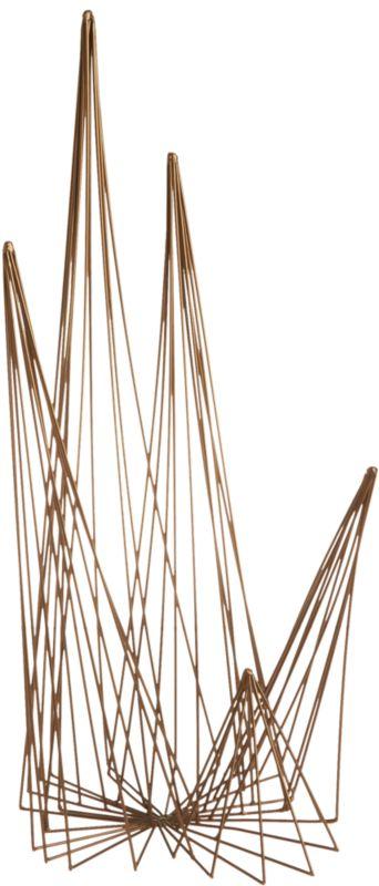 spike brass wire object