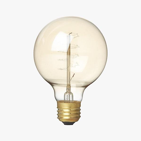 Spiral Filament 40w Light Bulb Cb2