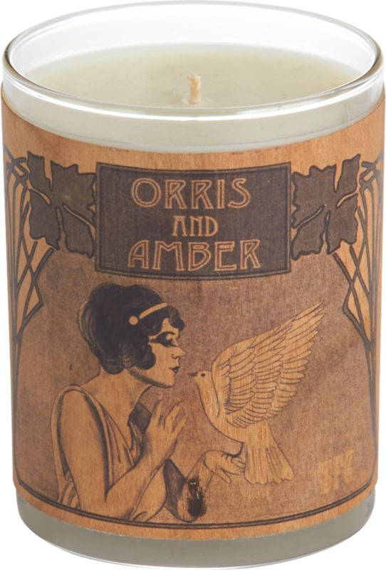 spitfire orris and amber candle