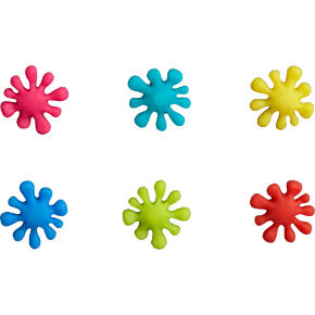 set of 6 splat magnets