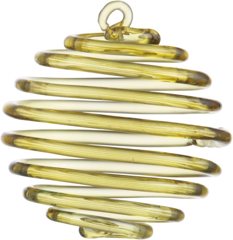 glass spring chartreuse ornament