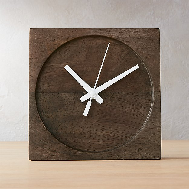square circle table clock