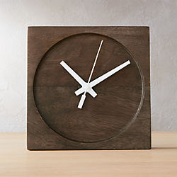 square circle table clock