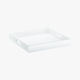 square hi-gloss white tray