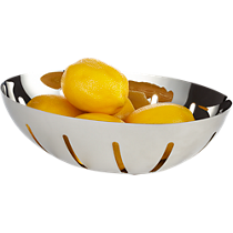 stainless steel fruit-bread bowl