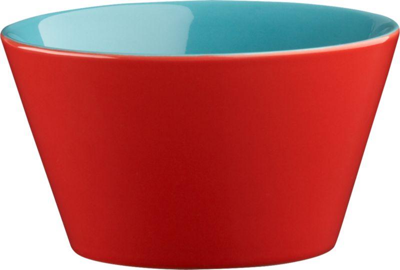 stack red-aqua bowl
