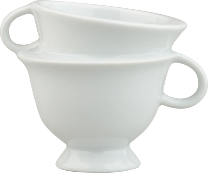 stacked teacup