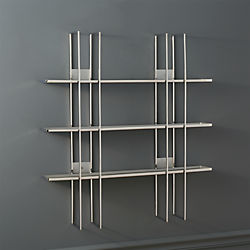 staff stainless steel wall shelf