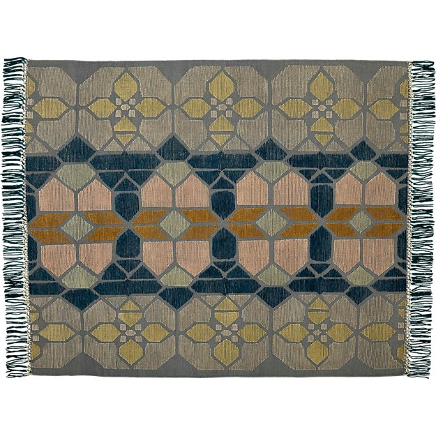 hand-knotted stained glass rug 8'x10'.