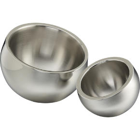 stainless steel snack bowls shopping in CB2 bar accessories from cb2.com