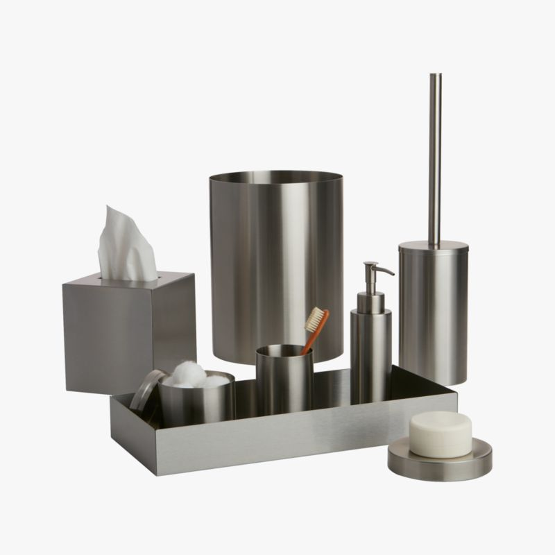 Stainless steel bath accessories cb2 - Modern bathroom accessories sets ...