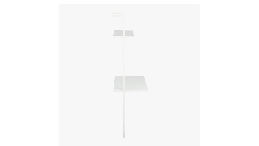 """stairway white 72.5"""" desk"""