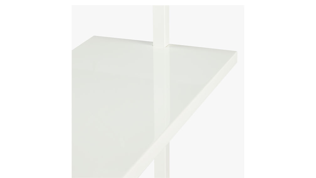 "stairway white 96"" wall mounted bookcase"