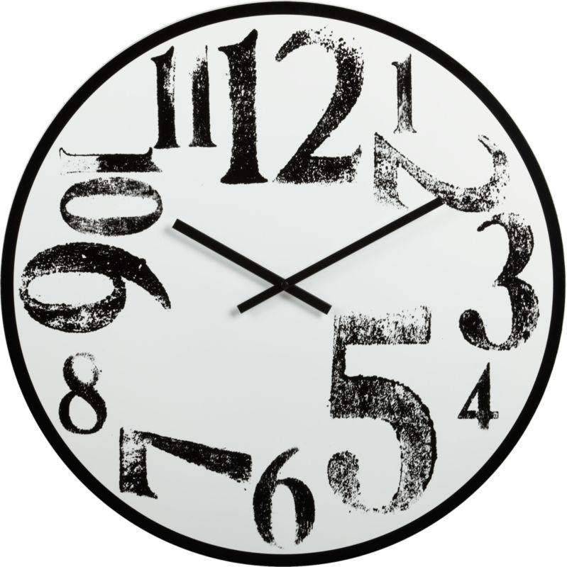 stamped numbers clock
