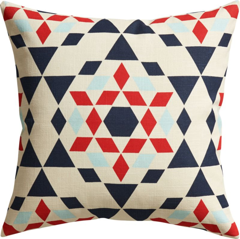 "star burst 20"" pillow with down-alternative insert"