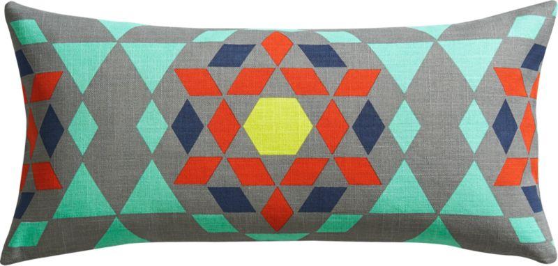 "star gazer 23""x11"" pillow with down-alternative insert"