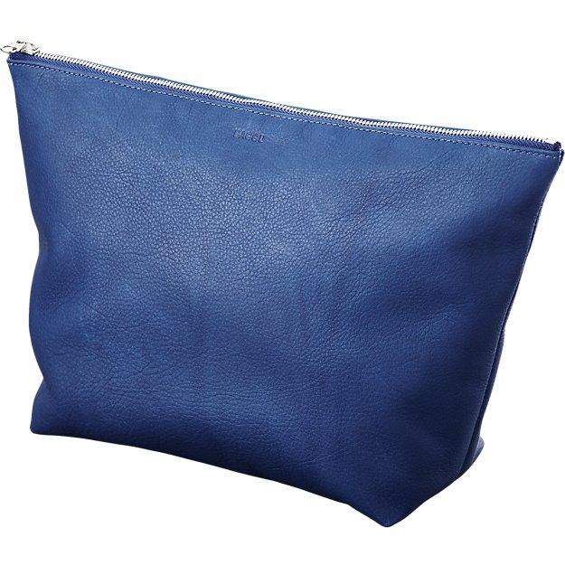 BAGGU stash cobalt leather clutch