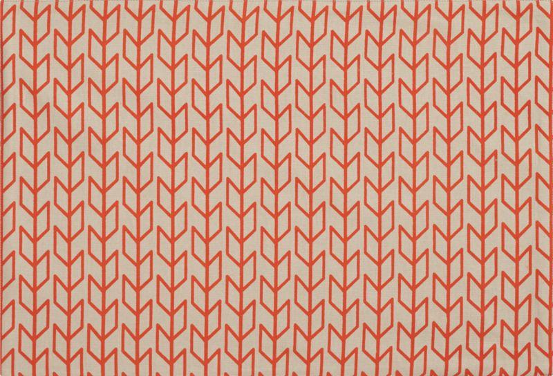 stem orange placemat