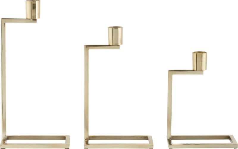 3-piece step up candleholder set