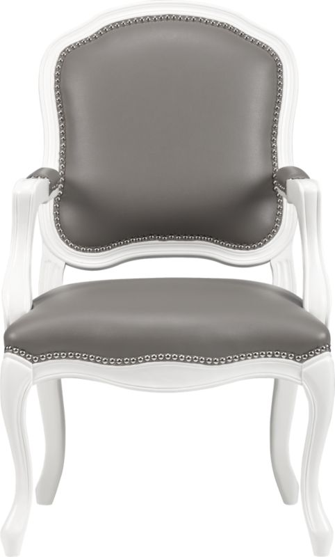 stick around white/grey arm chair