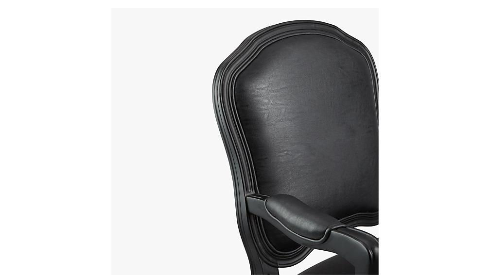 stick around black arm chair