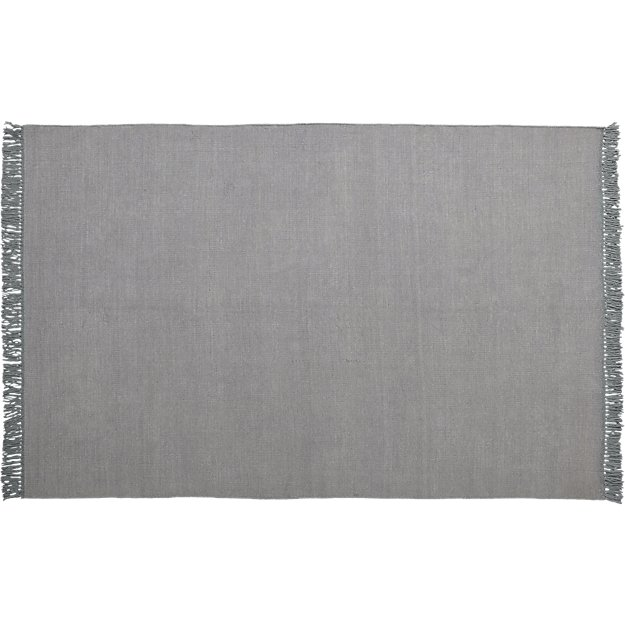stonewashed cool grey wool rug 6'x9'