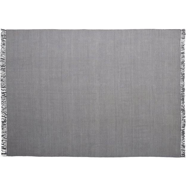 stonewashed cool grey wool rug 9'x12'