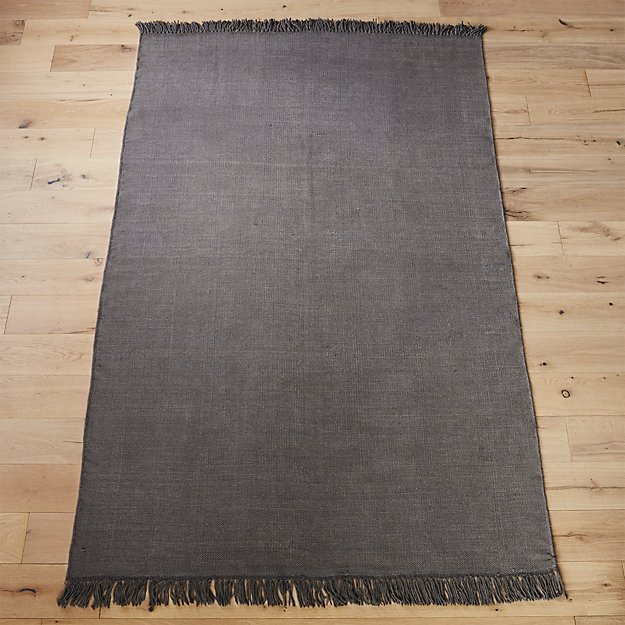 stonewashed cool grey wool rug