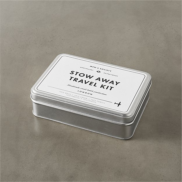 men's society stow away travel toiletry kit