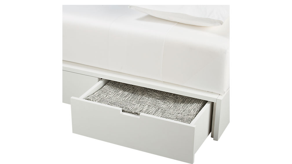 stowaway white queen bed