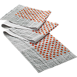 stripe dot table runner