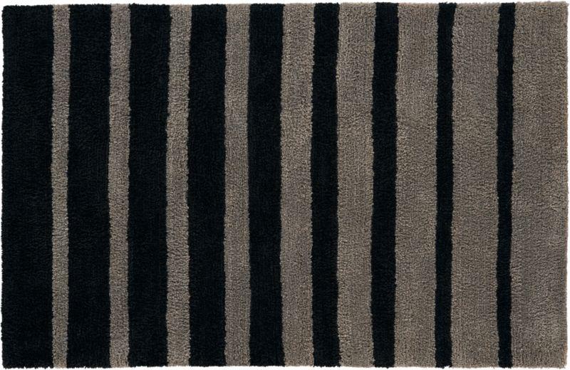stripe shag rug 5'x8'